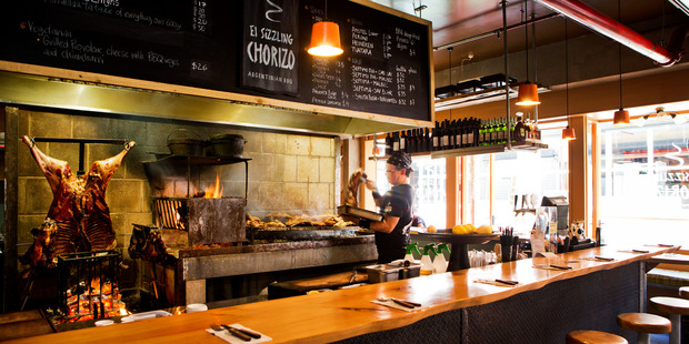 Argentinan grill 'El Sizzling Chorizo' in Ponsonby Central. Photo / Babiche Martens
