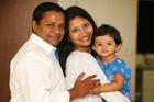 Ashish and Kinnary Macwan with their daughter Aashka, aged 1.  Photo / Chris Gorman