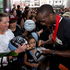 NZ Breakers Cedric Jackson signs autographs for fans. Photo / Brett Phibbs