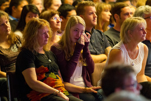 The auditorium at Elim Christian College was full yesterday as families and students remembered the Mangatepopo tragedy. Photo / Greg Bowker