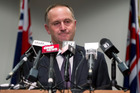 Prime Minister John Key during his post-Cabinet press conference at the Beehive. Photo / Mark Mitchell