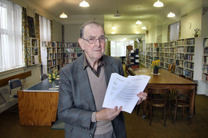 Upper Riccarton War Memorial Library chairman Arthur Woods. Photo / Geoff Sloan