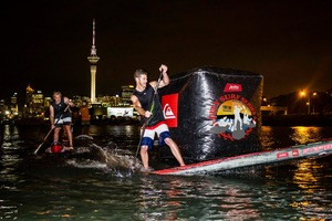 The world's first stand-up paddleboard (SUP) night event under floodlights will be staged on Auckland's St Marys Bay next weekend. Photo / Supplied