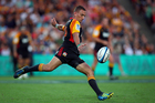 Aaron Cruden's groin problem may stop him from resuming goalkicking duties. Photo / Getty Images