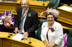 Green co-leader Metria Turei and MP Kevin Hague in the House for the final reading of the Marriage Amendment Bill at Parliament. Photo / Mark Mitchell