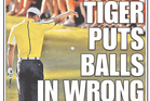 New York Post Front Page on Tiger Woods. Photo / Supplied