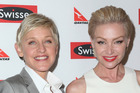 TV host Ellen DeGeneres, who is married to actor Portia de Rossi, gushed on Twitter about the marriage equality bill. Photo / Getty Images