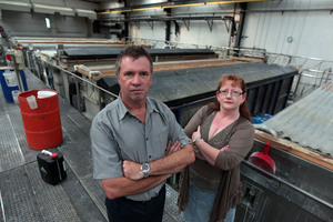 Don and Karen Tanner say a doubling in water charges will kill their electroplating business. Photo / Doug Sherring