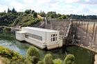 The dam and power stationon Lake Karapiro for the Mighty River Power Hydro-electric power station. Photo / Grant Bradley