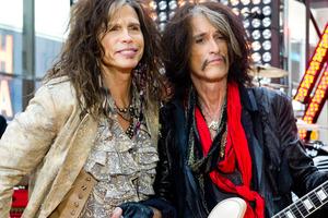 Aerosmith's lead singer Steven Tyler (left) and guitarist Joe Perry. Photo / AP