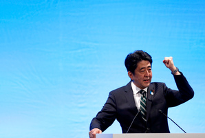 Shinzo Abe's plans to boost the Japanese economy may be effective if they are carried out more aggressively than in other countries. Photo / AP