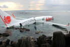 Passengers described a loud bang as the Lion Air Boeing 737-800 hit the water. Photo / AP