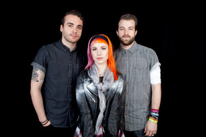 Taylor York, Hayley Williams and Jeremy Davis of Paramore. Photo / AP