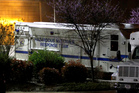 A U.S. Capitol Police hazmat vehicle is parked at a mail processing facility for Congressional mail in Prince George's County. Photo / AP