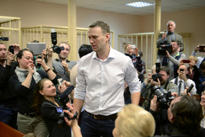 Alexei Navalny wants to be president of Russia, but he is facing a 10-year jail term. Photo / AP