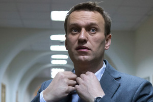 Supporters of Russian opposition activist Alexey Navalny say his trial is an attempt by the Putin Government to muzzle him. Photo / AP