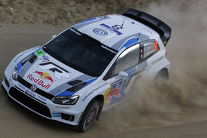 Volkswgen Motorsport team driver Sebastian Ogier now sits at the top of the WRC points standings after winning the Rally of Portugal. Photo / AP