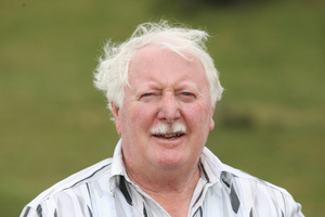 Bob Clarkson on his new land that he wants to build 1000 homes on near Tauriko. Photo / Bay of Plenty Times