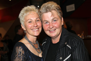 Lyndia Topp, seen here with Donna, says marriage should not be based on gender. Photo / Norrie Montgomery