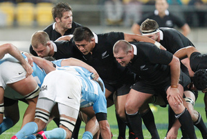 Scrums could soon be a contest again. Photo / Mark Mitchell