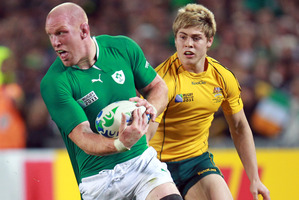 Paul O'Connell (L) has emerged from an injury cloud as a strong prospect to lead the Lions tour to Austalia.  Photo / APN
