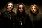 (From left to right) Tony Iommi, Ozzy Osbourne and Greezer Butler at the album listening session. Photo / Brett Phibbs