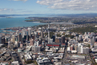Aerial view of Auckland City, Auckland. 19 April 2012 New Zealand Herald Photograph by Brett Phibbs
