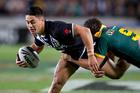 New Zealand Kiwis Shaun Johnson in action against Australia. Photo / Brett Phibbs.