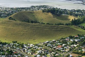 Mangere Mountain in the suburb of Mangere Bridge is one of Auckland's approximately 50 maunga.  Photo / Martin Sykes