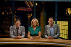 Seven Sharp's (from left) Jesse Mulligan, Ali Mau and Greg Boyed have a more lighthearted approach. Photo / APN