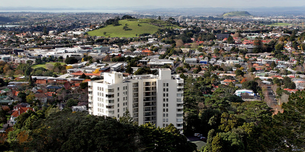 The outcry over The Pines, a multi-storey apartment block on Mt Eden, led to the protection of volcanic views. Photo / APN