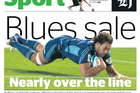 The Herald sport section lead on April 18.
