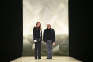 Eva Cavalli and Roberto Cavalli at Milan Fashion Week. Photo / Getty