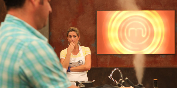 Kelly lets off some steam in Masterchef New Zealand.