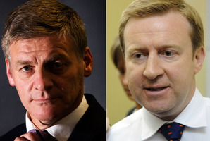 National MPs Bill English, left, and Jonathan Coleman intend to oppose the same-sex marriage bill. Photo / NZ Herald