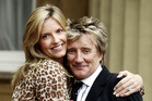 Rod Stewart and his wife Penny Lancaster. Photo/AP
