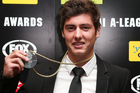 Marco Rojas with the Johnny Warren Medal. Photo / Getty Images