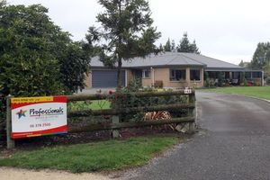 The Oliver's Willowpark Drive is up for sale after the elderly couple fell for a Ghanaian lottery swindle. Photo / Wairarapa Times Age