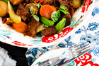 Italian beef stew with creamy polenta. Photo / Babiche Martens