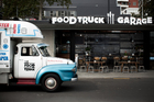 Michael Van de Elzen's latest restaurant The Food Truck Garage in The City Depot. Photo / Babiche Martens