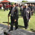 Returned servicemen lay poppies at an ANZAC Day service at Waipatu Marae, Waipatu, Hastings. Photo / Lawrence Gullery