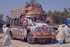 Pakistani painted buses and trucks are sights to behold.