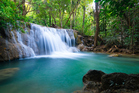 Deep forest waterfall in Kanchanaburi, Thailand. Photo / Getty Images