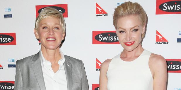 Portia de Rossi is happy to grow old with wife, Ellen DeGeneres. Photo / Getty Images
