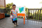 DIY painting easel. Photo / Michael Craig