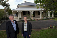 Mike Mattin and Antony Matthews say the home needed extensive work. Photo / Brett Phibbs