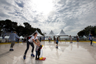 Lauren Waugh and 2-year-old Jordan Waugh take a