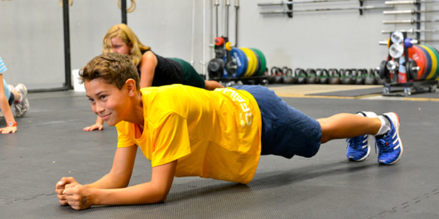 Children aged 8 to 14 years can participate in the CrossFit exercise classes. Photo / Xavier Wallach