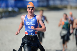 Winner Alistair Brownlee. Photo / Delly Carr
