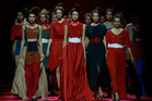 Models display creations of Russian designer Alena Akhmadullina at the Volvo Fashion Week in Moscow, Russia. Photo / AP